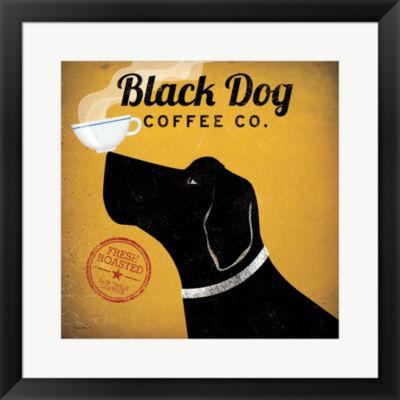 Metaverse Art Black Dog Coffee Co. Framed Print Wall Art