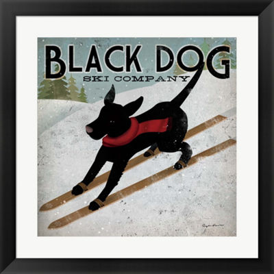 Metaverse Art Black Dog Ski Co. Framed Print WallArt