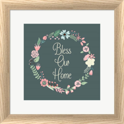 Bless Our Home Floral Framed Print Wall Art
