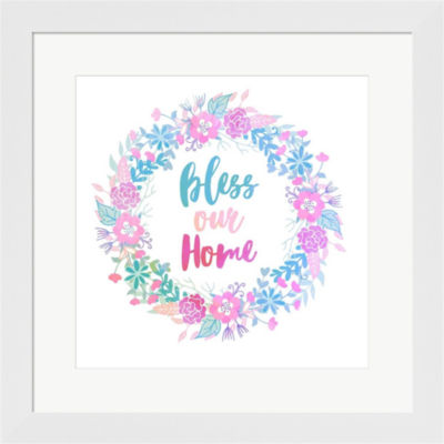 Bless Our Home Framed Print Wall Art