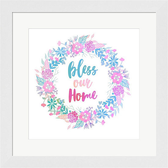 Metaverse Art Bless Our Home Framed Print Wall Art