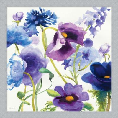 Blue And Purple Mixed Garden I Framed Print Wall Art