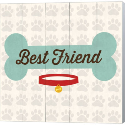 Metaverse Art Best Friend Bone Gallery Wrapped Canvas Wall Art