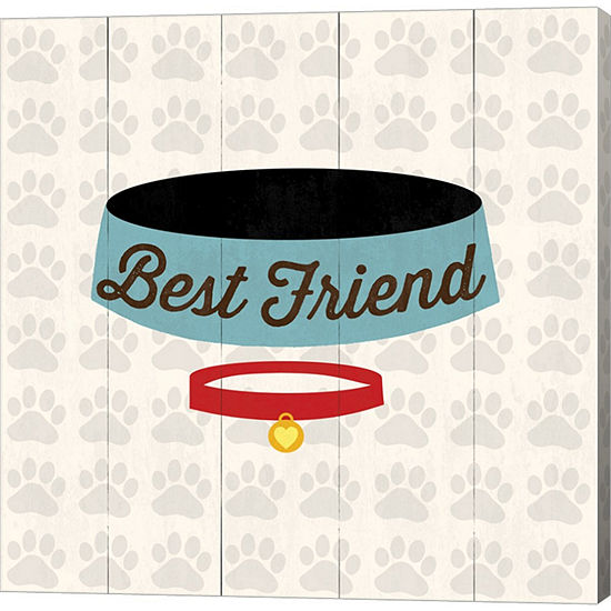 Metaverse Art Best Friend Bowl Gallery Wrapped Canvas Wall Art