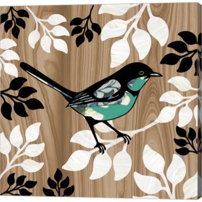Metaverse Art Bird Patchwork II Gallery Wrapped Canvas Wall Art