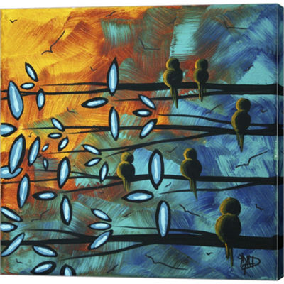 Metaverse Art Birds Of Summer Gallery Wrapped Canvas Wall Art
