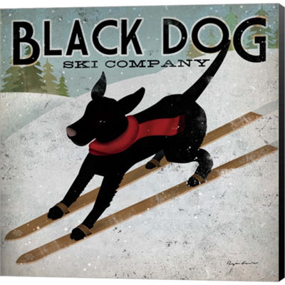 Metaverse Art Black Dog Ski Co. Gallery Wrapped Canvas Wall Art