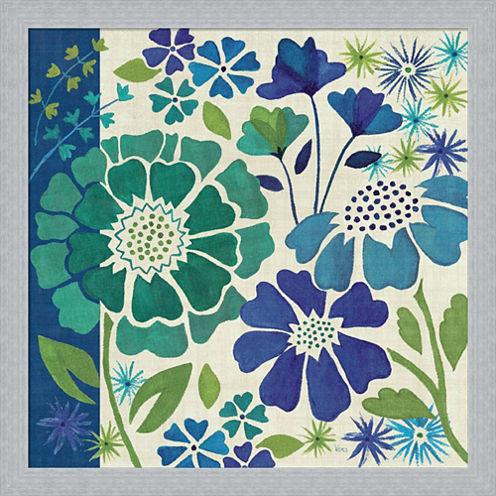 Blue Garden I Framed Print Wall Art