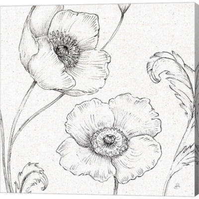 Metaverse Art Blossom Sketches I Gallery Wrapped Canvas Wall Art