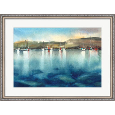 Boat Reflections Framed Print Wall Art
