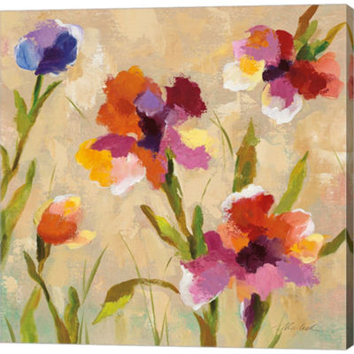 Metaverse Art Bold Bright Flowers III Gallery Wrapped Canvas Wall Art