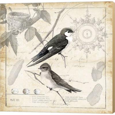 Metaverse Art Botanical Birds II Gallery Wrapped Canvas Wall Art