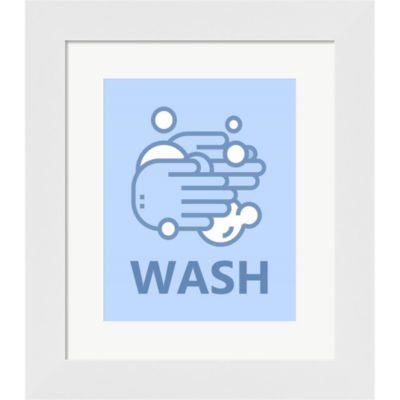 Boy's Bathroom Task-Wash Framed Print Wall Art