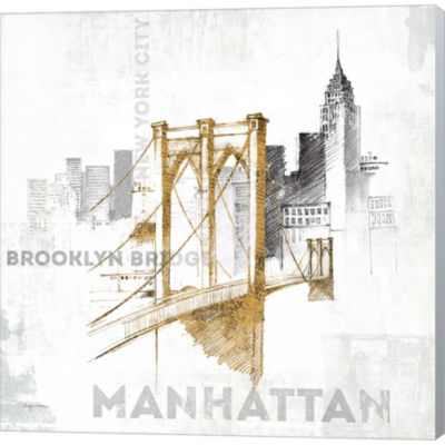 Brooklyn Bridge Gallery Wrapped Canvas Wall Art OnDeep Stretch Bars