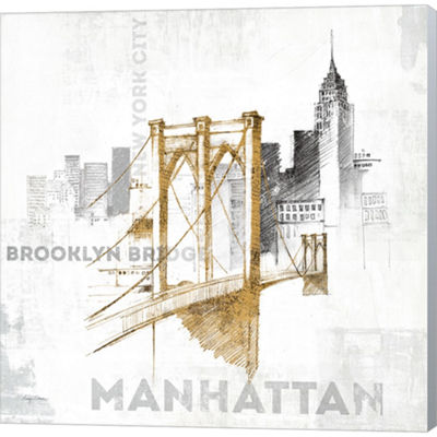 Metaverse Art Brooklyn Bridge Gallery Wrapped Canvas Wall Art