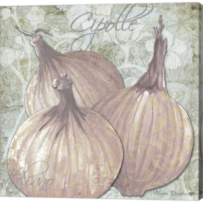 Metaverse Art Buon Appetito Red Onions Gallery Wrapped Canvas Wall Art