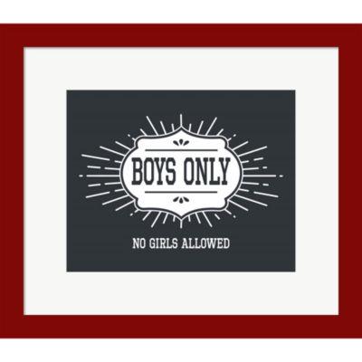 Metaverse Art Boys Only Sunburst Framed Print WallArt
