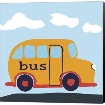 Metaverse Art Bus Baba Gallery Wrapped Canvas WallArt