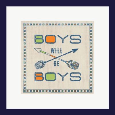 Boys Will Be Boys Framed Print Wall Art