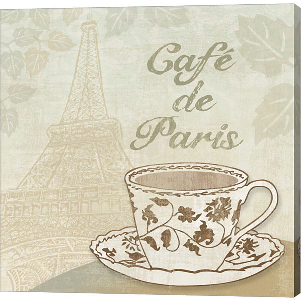 Cafe De Paris Gallery Wrapped Canvas Wall Art On Deep Stretch Bars