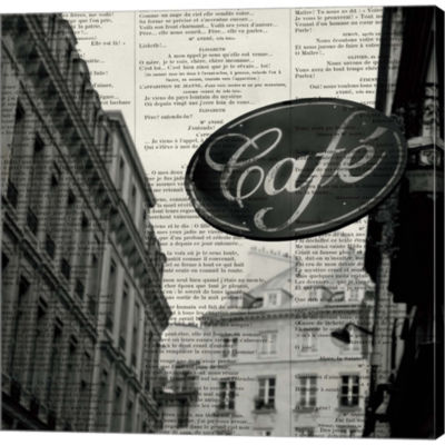 Cafe Gallery Wrapped Canvas Wall Art On Deep Stretch Bars