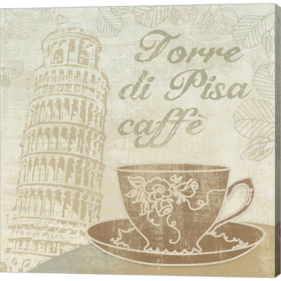 Caffe Pisa Gallery Wrapped Canvas Wall Art On DeepStretch Bars