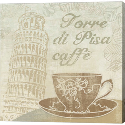 Metaverse Art Caffe Pisa Gallery Wrapped Canvas Wall Art