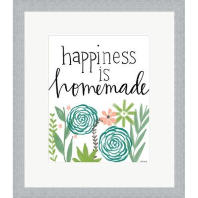 Metaverse Art Happiness Is Homemade Framed Print Wall Art