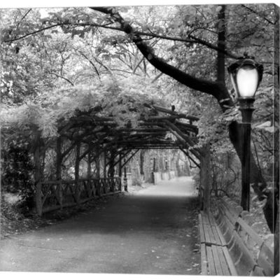 Central Park Pergola Gallery Wrapped Canvas Wall Art On Deep Stretch Bars