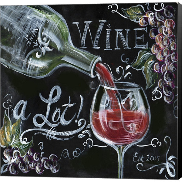 Chalkboard Wine I Gallery Wrapped Canvas Wall ArtOn Deep Stretch Bars