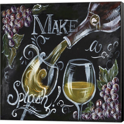 Metaverse Art Chalkboard Wine II Gallery Wrapped Canvas Wall Art