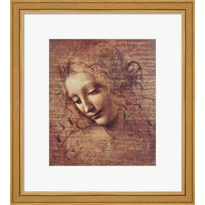 Metaverse Art Head Of A Young Woman With Tousled Hair Framed Print Wall Art