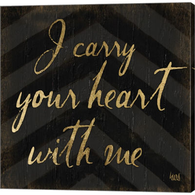 Metaverse Art Chevron Sentiments I Gallery WrappedCanvas Wall Art