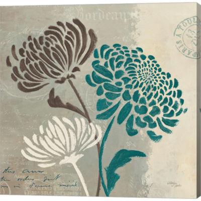 Chrysanthemums II Gallery Wrapped Canvas Wall ArtOn Deep Stretch Bars