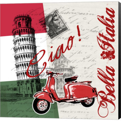 Metaverse Art Ciao Pisa Gallery Wrapped Canvas Wall Art