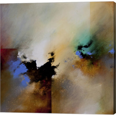Metaverse Art Clouds Connected II Gallery WrappedCanvas Wall Art