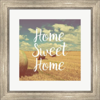 Metaverse Art Home Sweet Home Bales Of Hay FramedPrint Wall Art