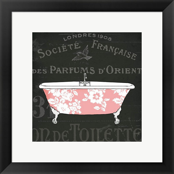 Metaverse Art Chalkboard Bath II Framed Print WallArt