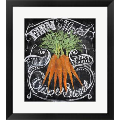 Chalkboard Carrots Framed Print Wall Art