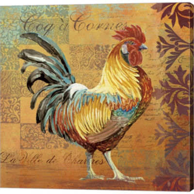Coq Motifs I Gallery Wrapped Canvas Wall Art On Deep Stretch Bars