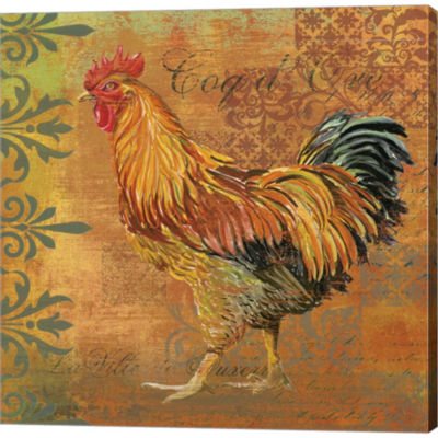 Metaverse Art Coq Motifs II Gallery Wrapped CanvasWall Art