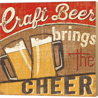 Craft Brew I Gallery Wrapped Canvas Wall Art On Deep Stretch Bars