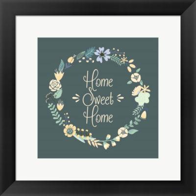 Metaverse Art Home Sweet Home Floral Framed PrintWall Art