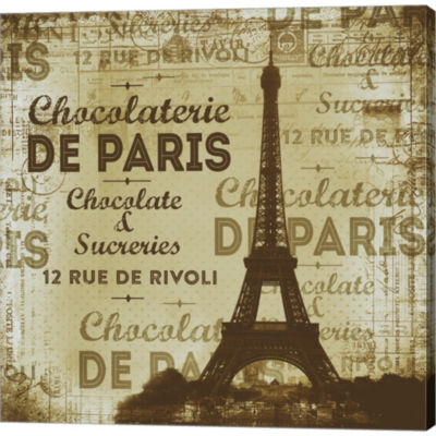 De Paris Gallery Wrapped Canvas Wall Art On Deep Stretch Bars