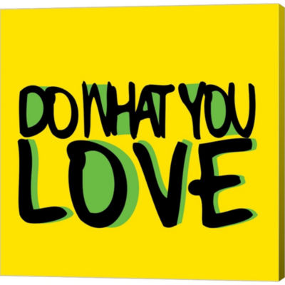 Metaverse Art Do What You Love Gallery Wrapped Canvas Wall Art