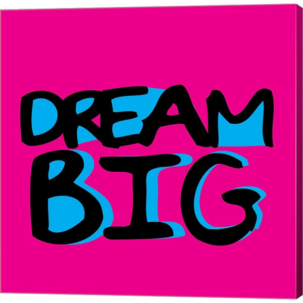 Dream Big by Louise Carey Gallery Wrapped Canvas Wall Art On Deep Stretch Bars
