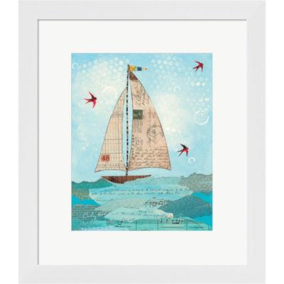 Coastal Notes I Framed Print Wall Art
