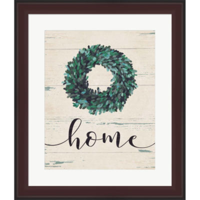 Home Wreath Framed Print Wall Art