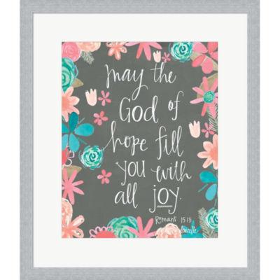 Metaverse Art Hope Of God Framed Print Wall Art