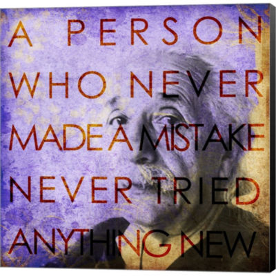 Metaverse Art Einstein Never Made A Mistake QuoteGallery Wrapped Canvas Wall Art